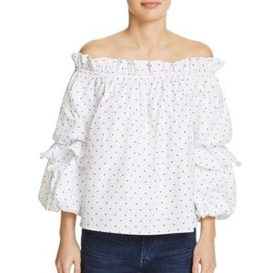 Do & Be Tiered Sleeve Off-The-Shoulder Top